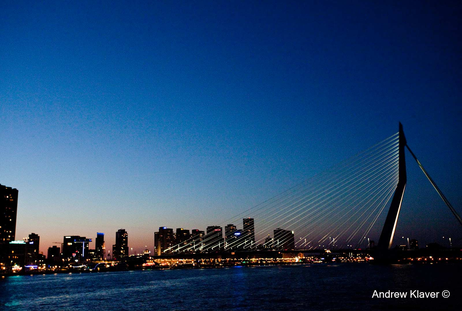 Rotterdam Erasmus Bridge, The Netherlands, 2012