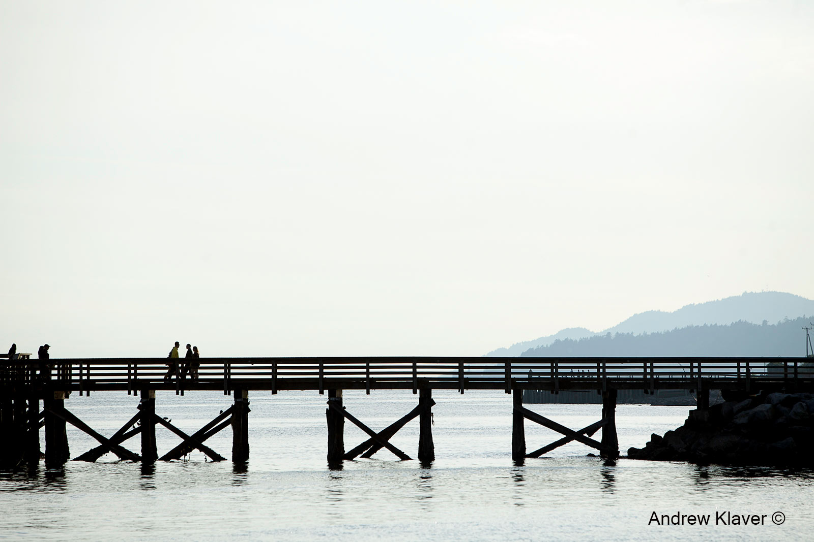 Pier, people, West Vancouver, BC, Canada, 2013