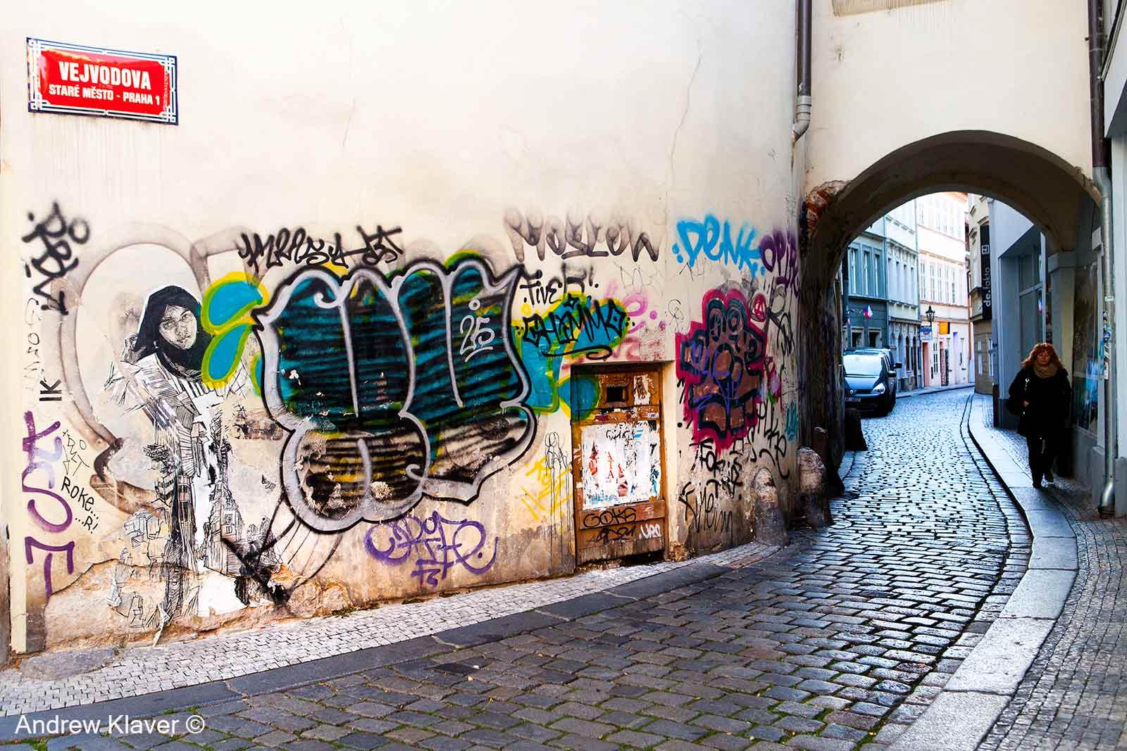 Prague street scene, 2013