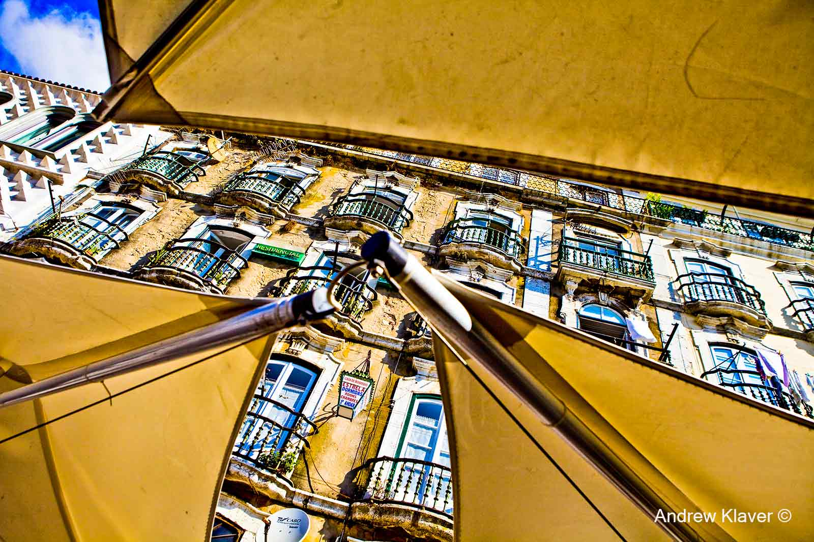Lisbon umbrella detail