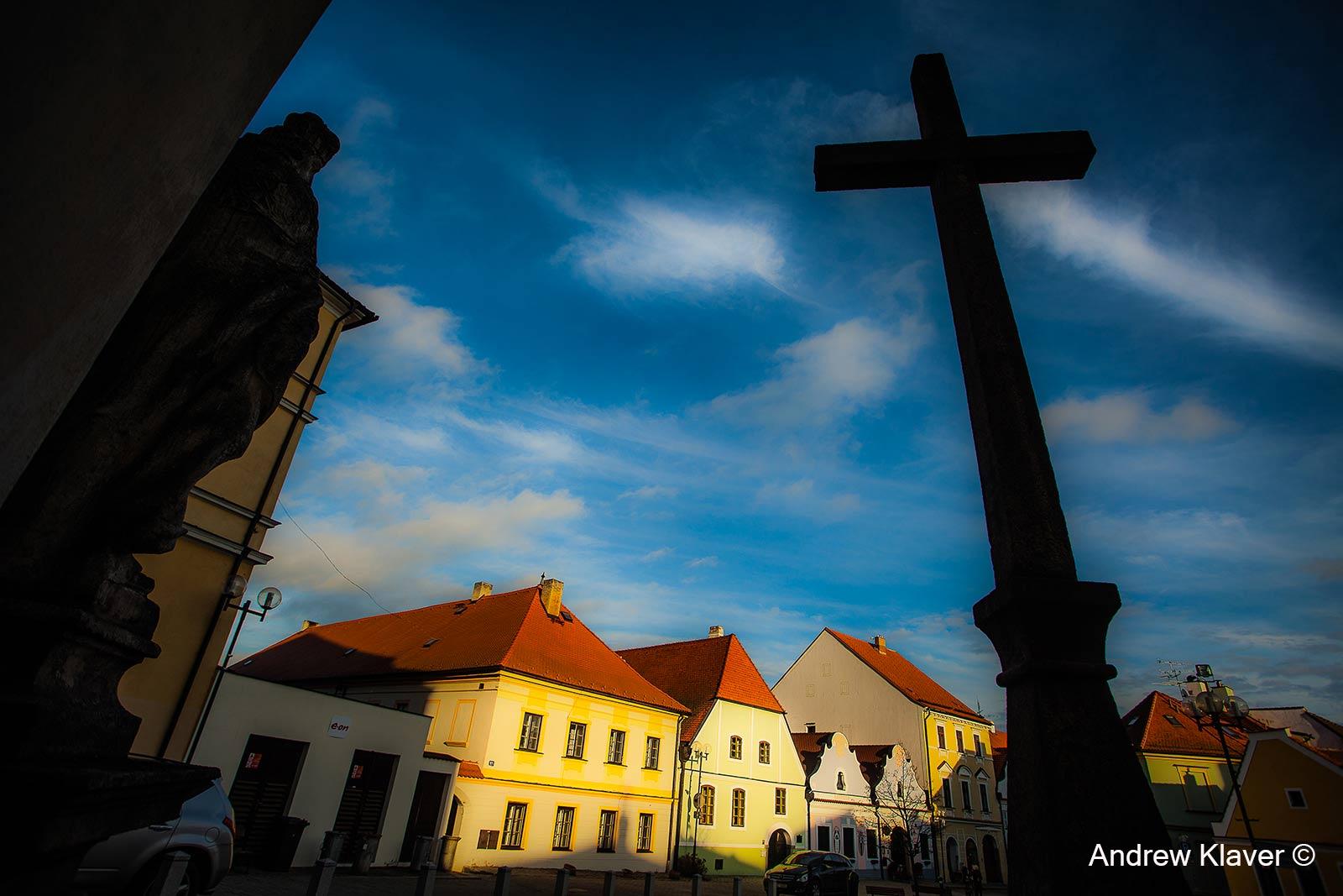 Wonderful winter light in Trebon, Czech Republic