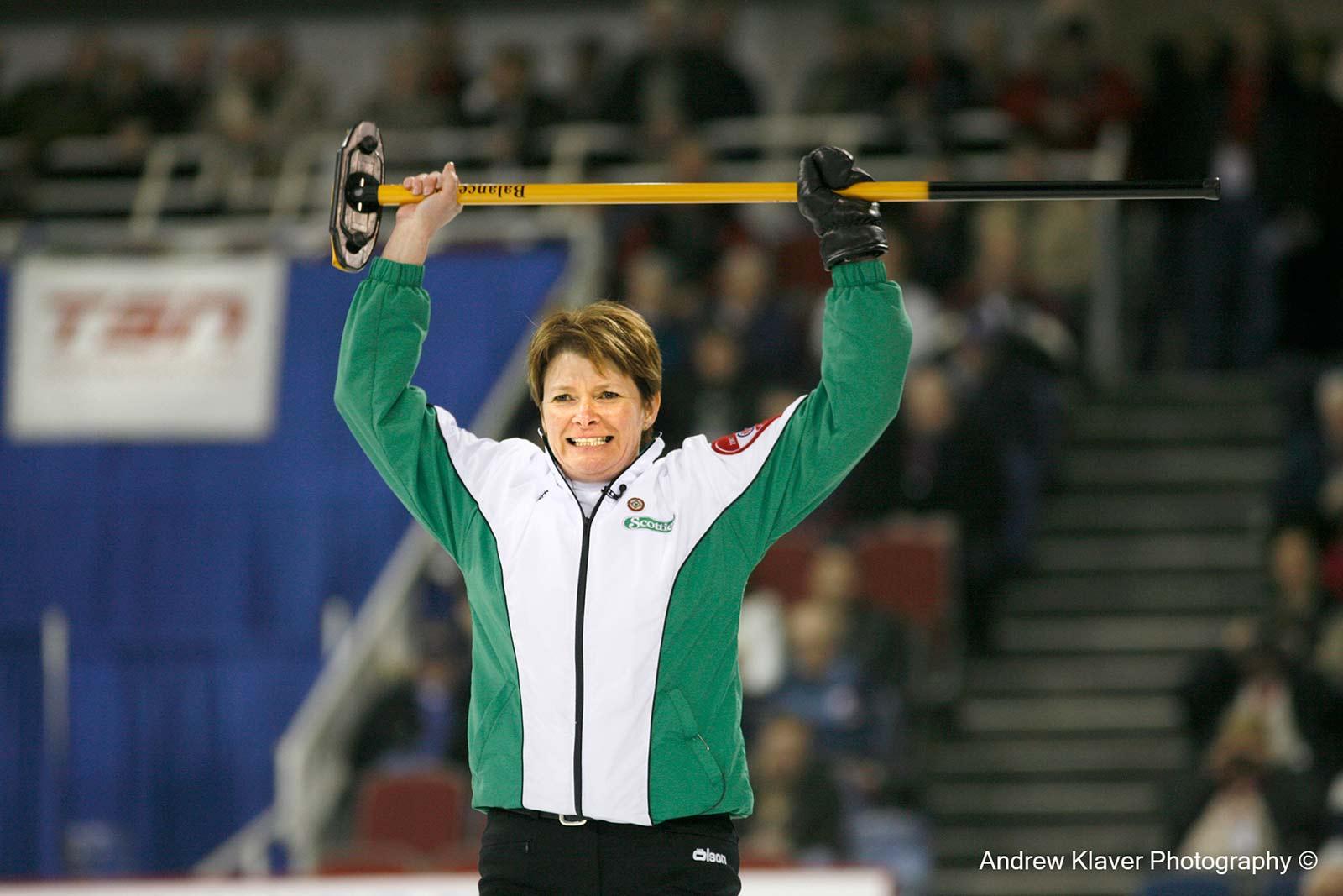 Team Saskatchewan skip Jan Betker