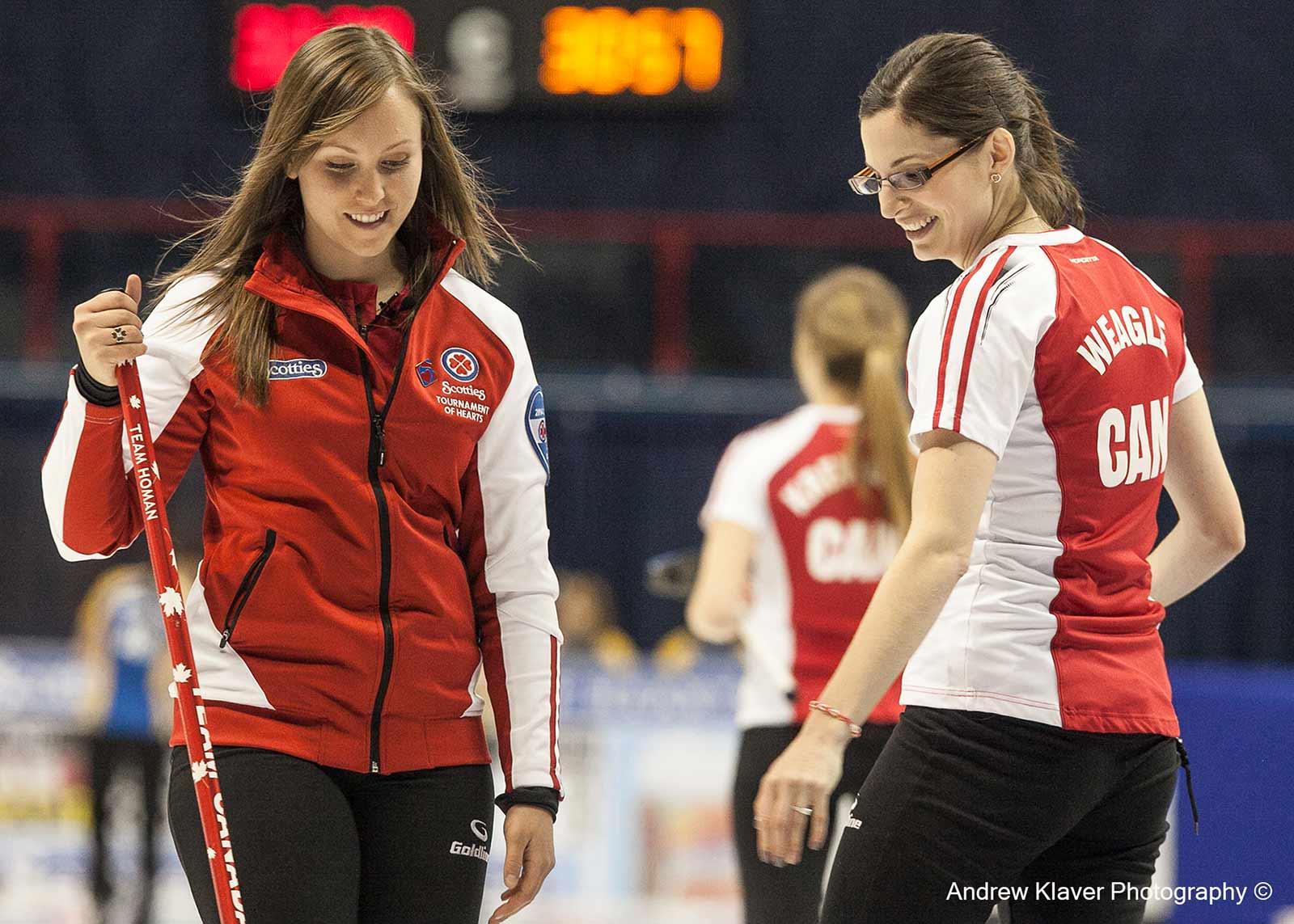 Returning Canadian champion Skip Rachel Holman